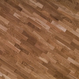 Parkets 13mm oak nature white 3 strips