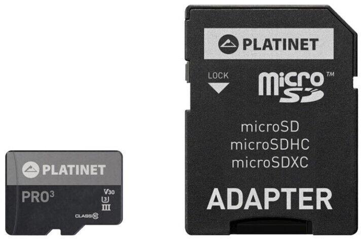 Platinet PRO3 Micro SDXC Class 10 A1 256GB