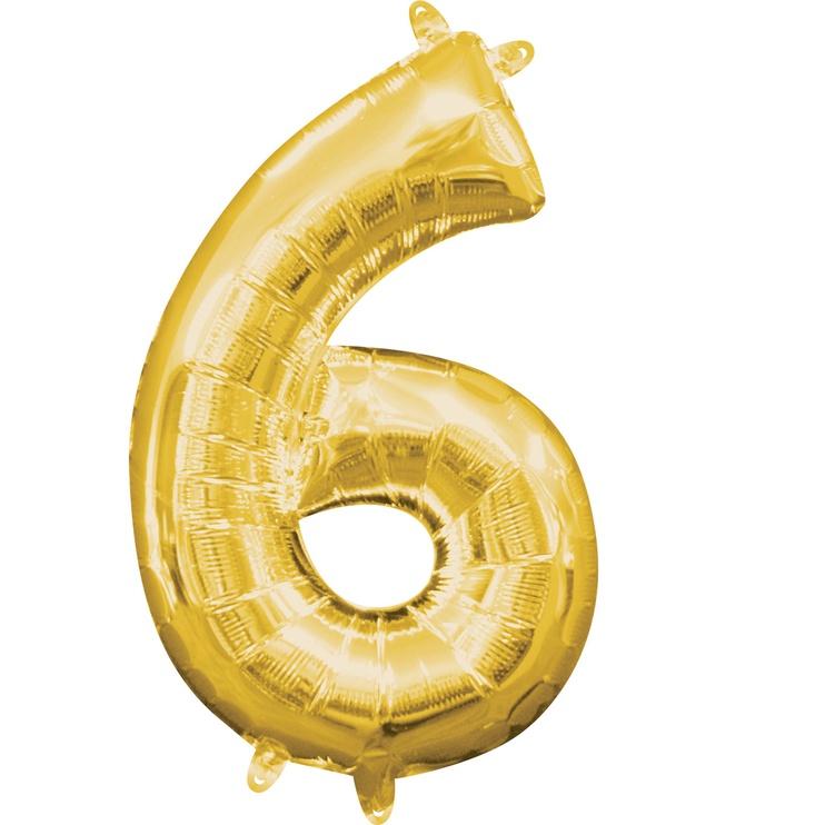 Balionas Amscan NR 6, aukso, 1 vnt.