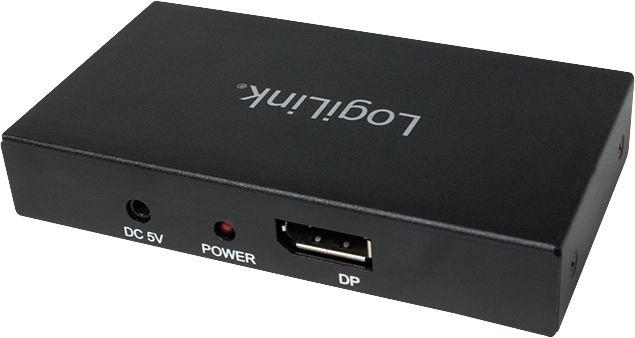 LogiLink 4K DisplayPort 1.2 Splitter To 2x DisplayPort