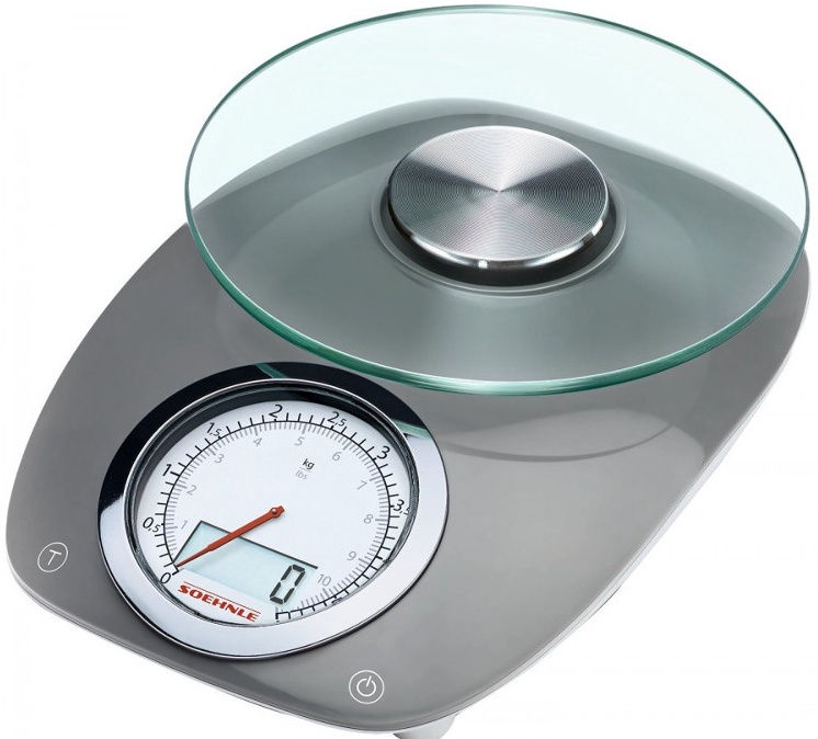 Soehnle Electronic Kitchen Scales Vintage Style Grey