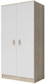 Idzczak Meble Smyk III 06 Wardrobe 2D White/Sonoma Oak