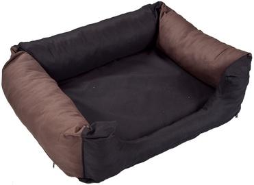 Eu Dog Bed Cushion 100x80cm Black/Brown