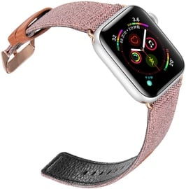 Dux Ducis Canvas Leather Band For Apple Watch 42/44mm Pink/Brown