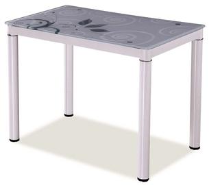 Pusdienu galds Signal Meble Damar White, 800x600x750 mm