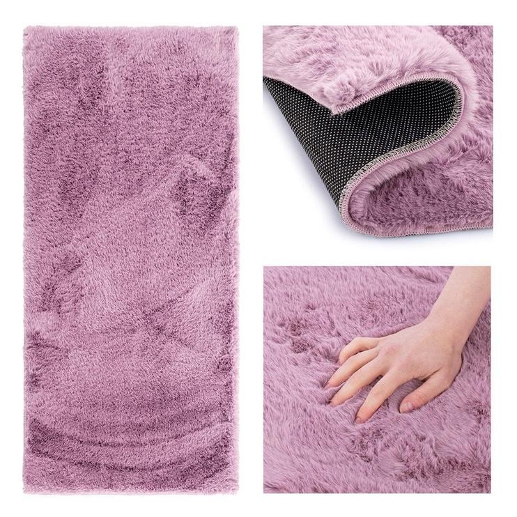 Ковер AmeliaHome Lovika, фиолетовый, 160 см x 80 см
