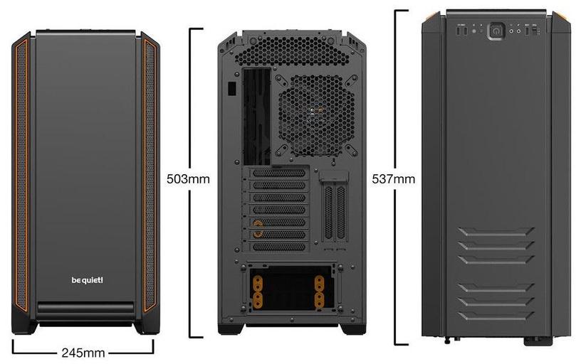 Be quiet! PC Case Silent Base 601 Window Orange