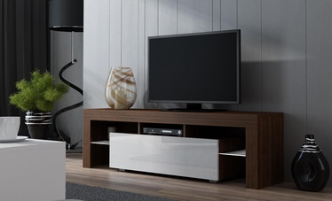TV-laud Pro Meble Milano 130 Walnut/White, 1300x350x450 mm