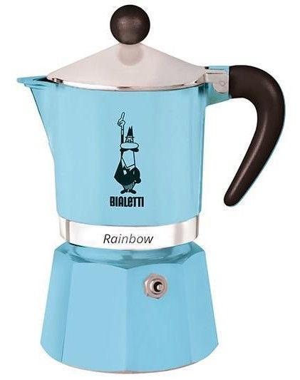 Bialetti Rainbow Coffee Maker 0.15l Blue