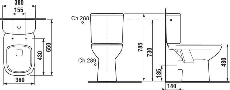 Tualete Jika Deep H8266160002811, 360x650 mm