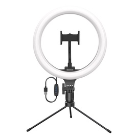 Selfie stick with 10 inch LED light ring