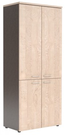 Skyland XTEN Office Cabinet XHC 85.3 Tiara Beech/Dark Wood