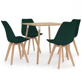Обеденный комплект VLX 5 Piece 3057177, коричневый/зеленый