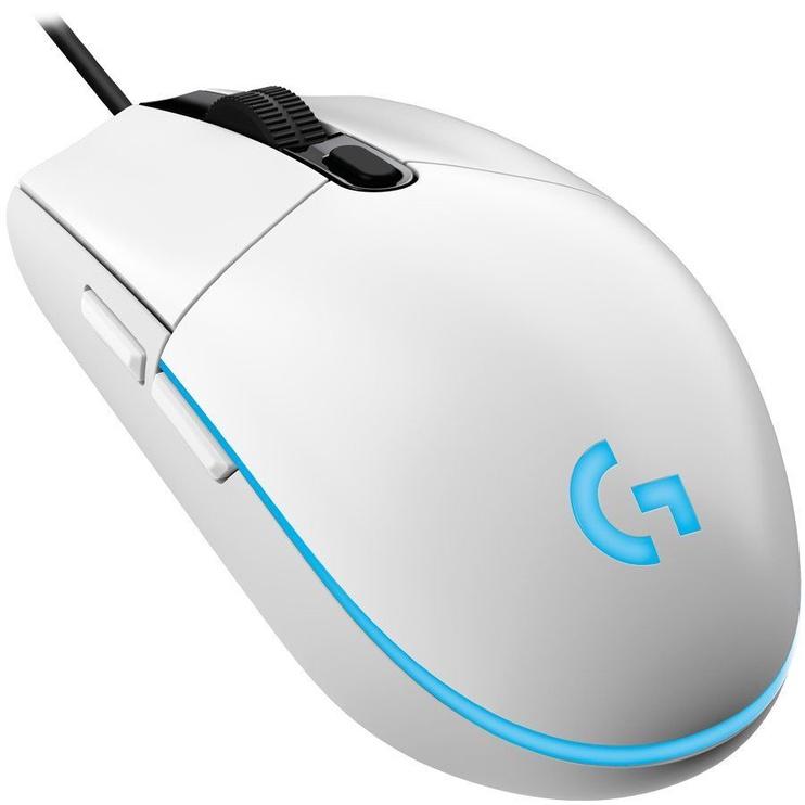 Spēļu pele Logitech G102 Lightsync, balta