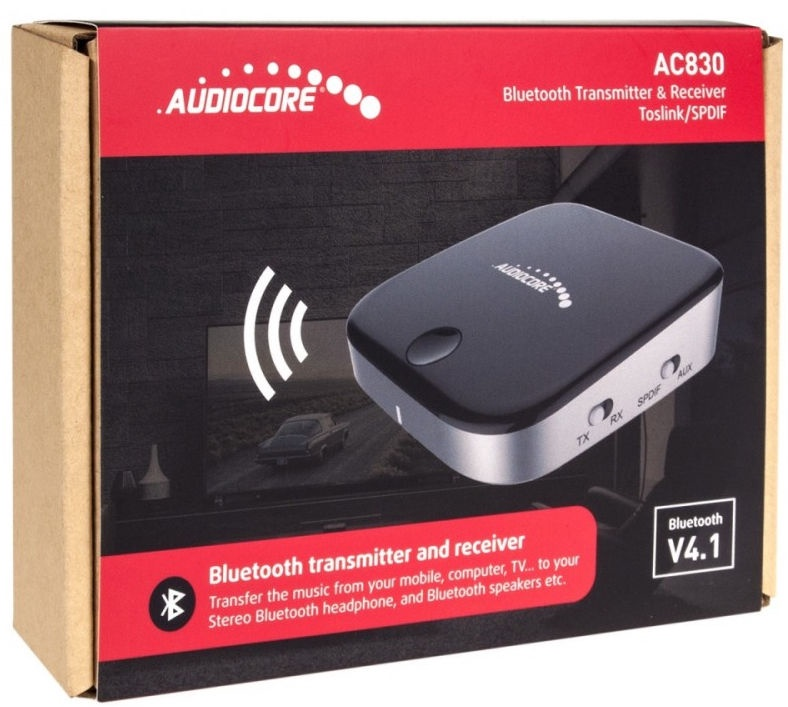 AudioCore AC830 Bluetooth 2in1 Transmitter