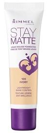 Rimmel London Stay Matte Liquid Mousse Foundation 30ml 100