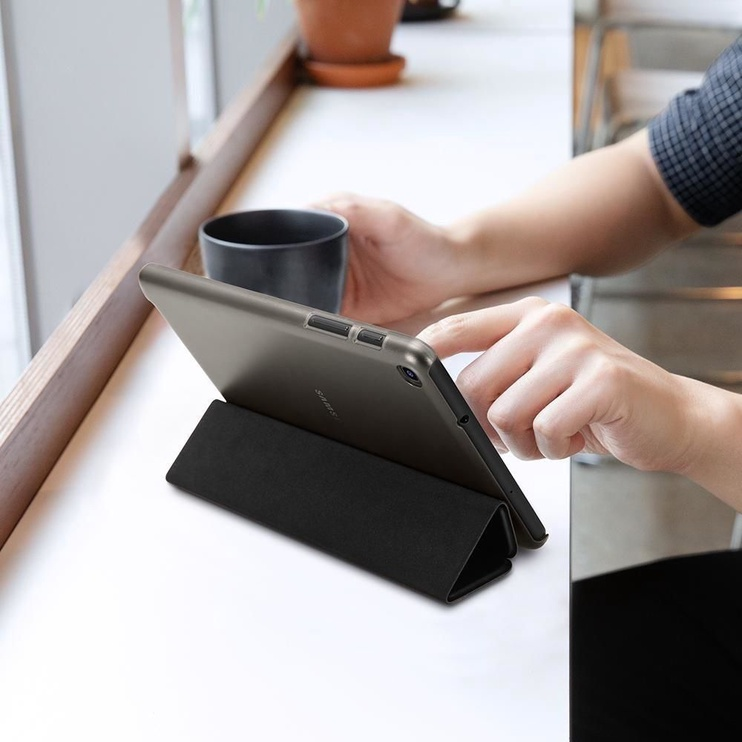 Spigen Smart Fold Case With S Pen For Samsung Galaxy Tab A 8.0 2019 Black