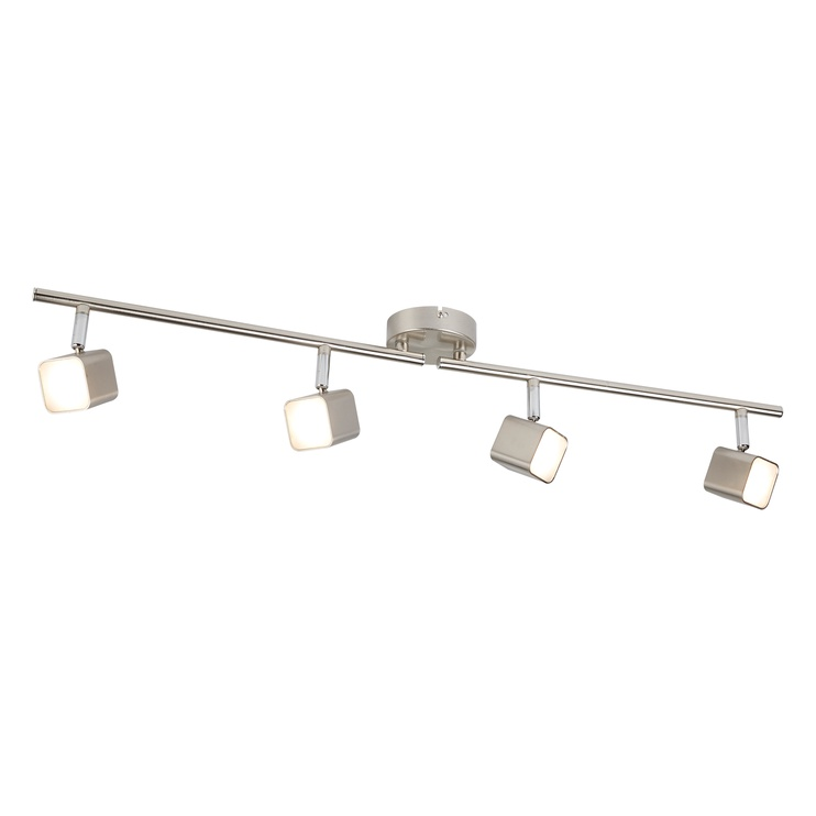 Kryptinis šviestuvas Searchlight Quad 4233SS, 4x4W, integruota LED lempa