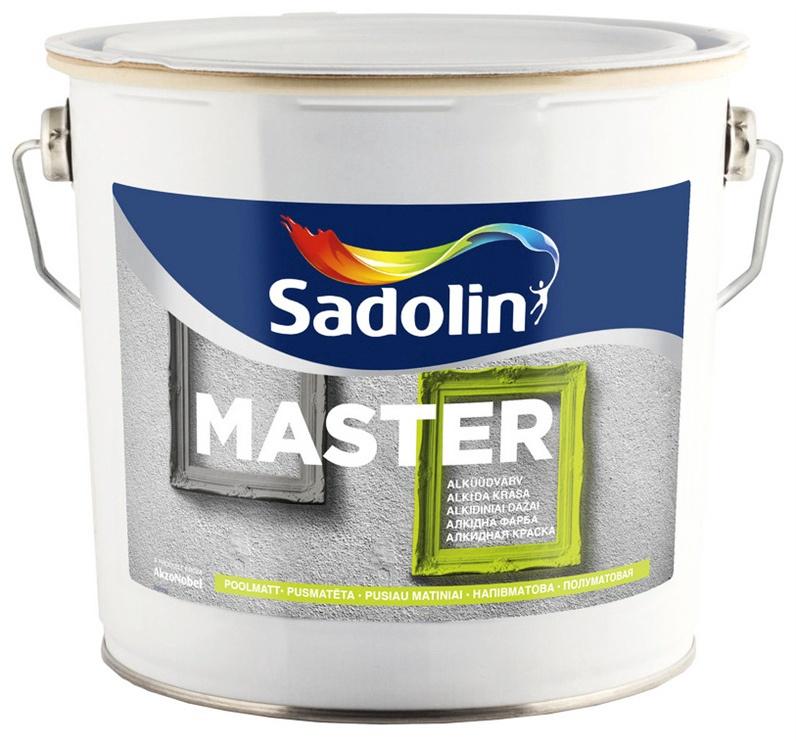 Alkīda krāsa Sadolin Master, 2,5l, pusspīdīga