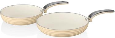 Swan Retro 20cm/28cm Fry Pans SWPS2010CN Cream