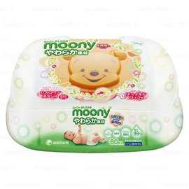 Moony Wet wipes 80 pc plastic box