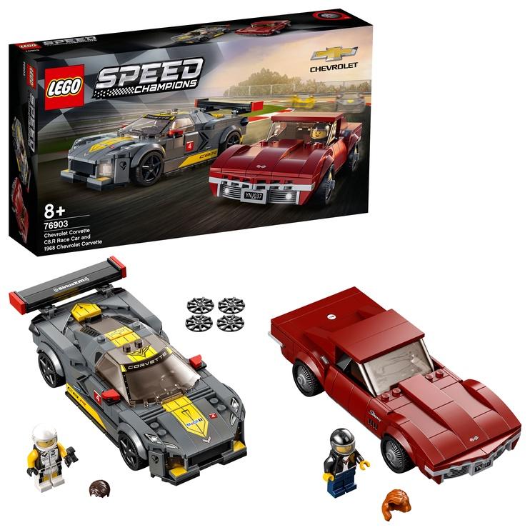 Конструктор LEGO Speed Champions Chevrolet Corvette C8.R Race Car And 1968 Chevrolet Corvette 76903, 512 шт.