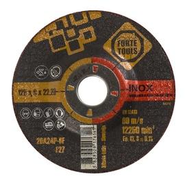 Lihvketas Forte Tools 125x6,0x22 mm, 20A24P Inox