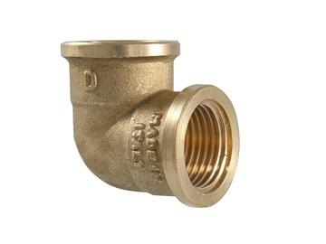 """Alkūnė, TMD brass, 1/2"""", 90°, vidiniai sriegiai"""