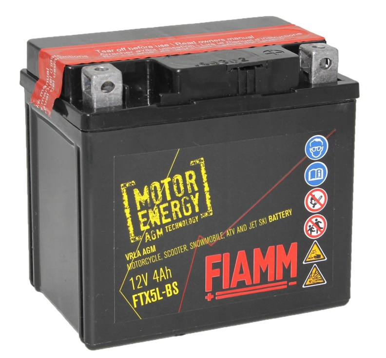 Akumulators Fiamm Moto FTX5L-BS, 4 Ah, 50 A, 12 V