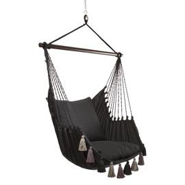 Home4you Tassels Swing Chair Black