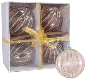 Home4you Christmas Balls 10cm 4pcs Antique/Stripe