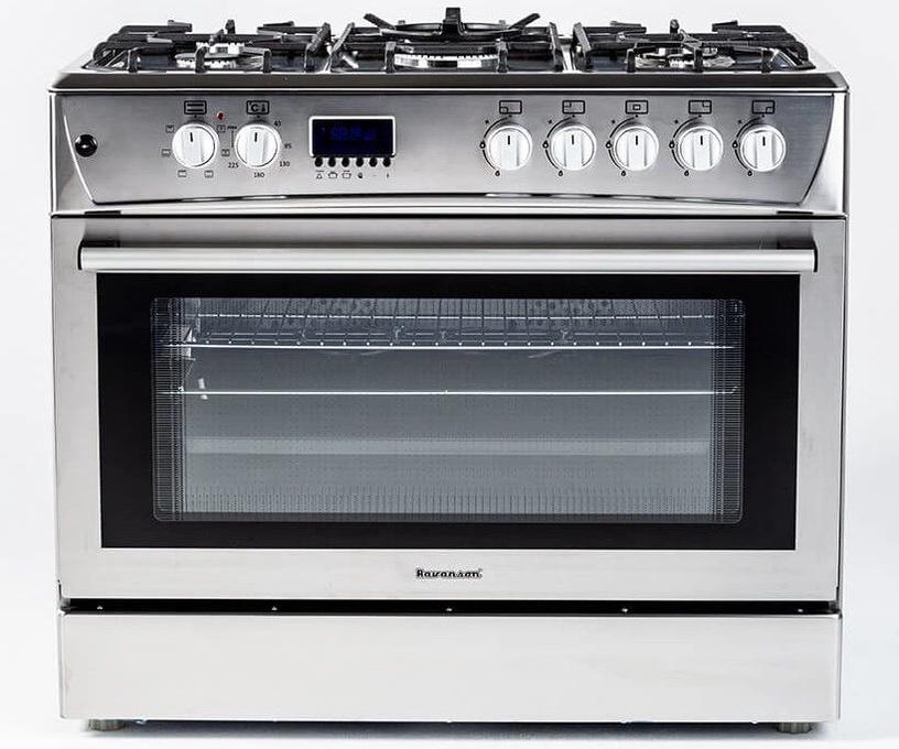 Dujinė viryklė su elektrine orkaite Ravanson KWGE-K90 Cheff Modern