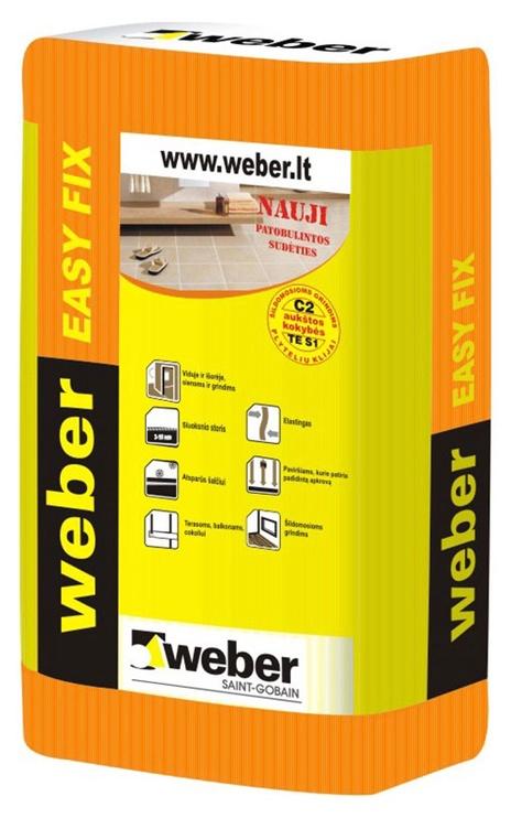 Līme flīzēm Weber Easy Fix, 25 kg