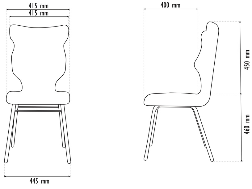 Детский стул Entelo Solo Size 6 VS26, серый/кремовый, 400 мм x 910 мм