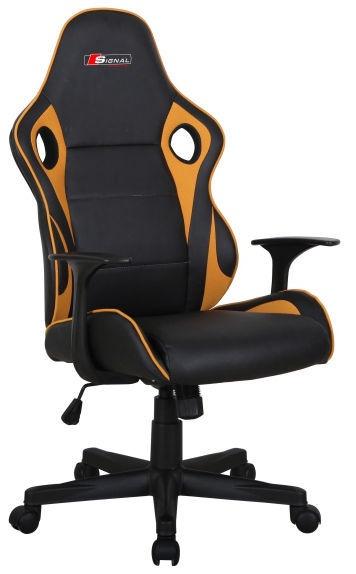 Biroja krēsls Signal Meble Carrera Black/Yellow