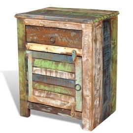 Ночной столик VLX Reclaimed Wood 240950, многоцветный, 45x33x55 см