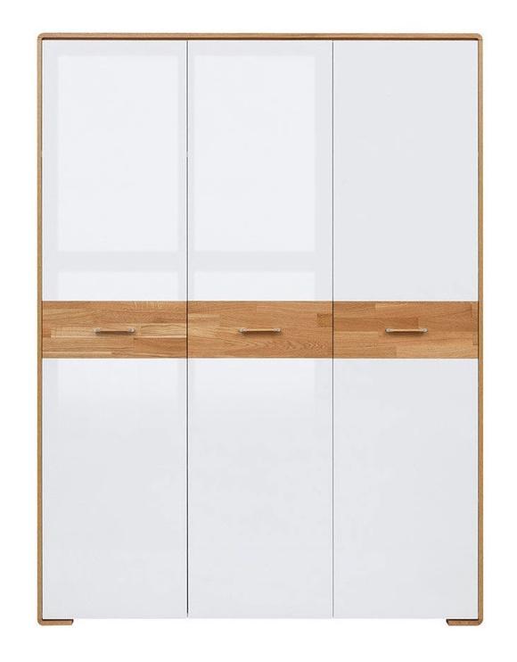 Black Red White Bari Wardrobe 153x205cm Oak/White