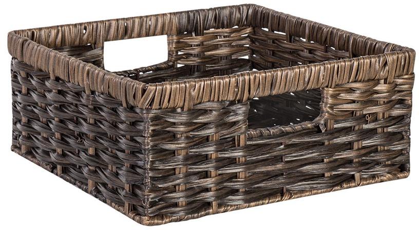 Home4you Basket Rubys 2 26x26x12cm Dark Brown