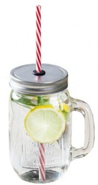 Arkolat Smoothie Jar 450ml With Straw/Silver Lid