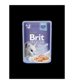 Brit Premium Salmon Fillets In Jelly 85g