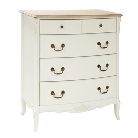 Home4you Elizabeth Chest Of Drawers 92x50x100cm White/Brown