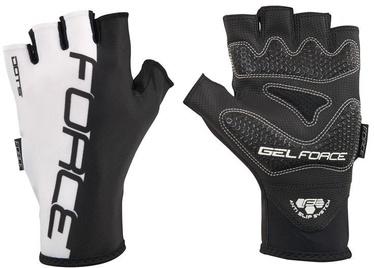 Force Dots Short Gloves Black White XL