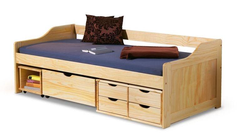 Детская кровать Halmar Maxima, сосновый, 209x96 см