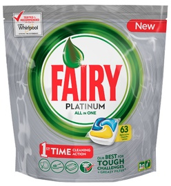 Fairy Dishwashing Tablets All In One Platinum Lemon 63pcs