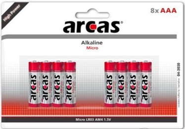 Arcas Alkaline Battery 8 x AAA