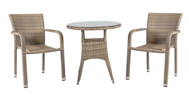 Home4you Larache K21200 Table And Two Chair Set Grey