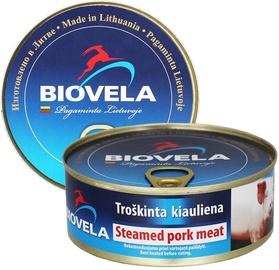 Troškinta kiauliena Biovela, 240 g