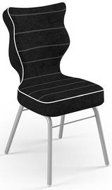 Детский стул Entelo Solo Size 4 VS01, черный/серый, 340 мм x 775 мм