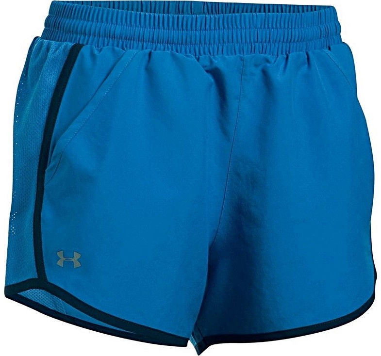 """Under Armour Shorts Fly By 3"""" 1297125-437 Blue S"""