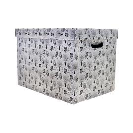 Dėžė su dangčiu ir rankena, 45 x 32 x 21 cm